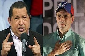 Elecciones Venezuela 2012 Chávez y Capriles