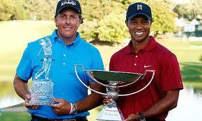 Phil Mickelson y Tiger Woods ganan los primeros torneos de 2013