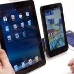 El iPad  de Apple tiene muchos competidores de Samsung, LG, Nexus y HTC
