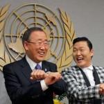 La policía coreana desfilan a ritmo de rap